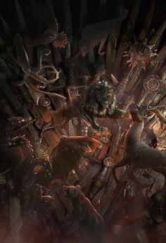 Throne Battle GOT by lafemmedart218 on DeviantArt