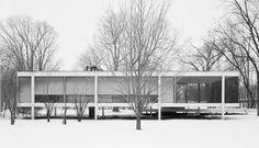 Farnsworth House, diseñada por Mies van der Rohe.