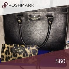 Kate spade Leopard wallet ONLY! Kate spade leopard wallet. Used but in great condition. No signs of wear! kate spade Bags