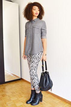 mercredie-blog-mode-grey-shirt-chemise-grise-denim-h&m-jules-heeled-allsaints-biker-boots-afro-nappy-hair-weave-curl-curls-sac-apc-cuir-seau2