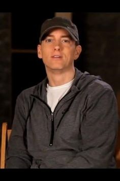 This is a photo of him you rarely see....Eminem with a smile