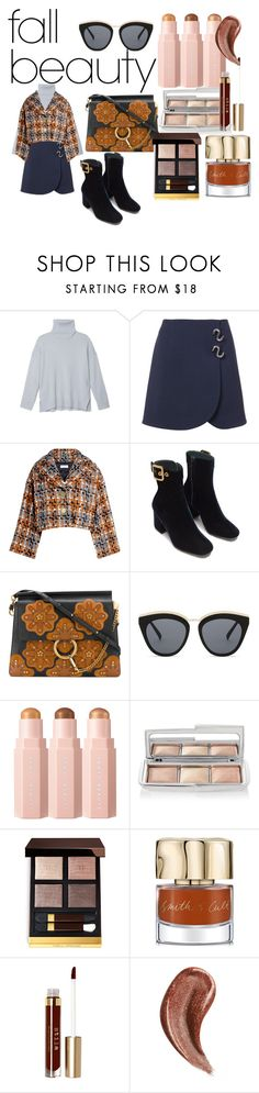"""""""Deep Beauty"""" by jnf789 ❤ liked on Polyvore featuring beauty, TIBI, Sonia Rykiel, Chloé, Le Specs, Hourglass Cosmetics, Tom Ford, Smith & Cult, Stila and Gucci"""