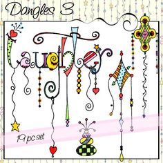 Cutest font ever!! Dangles 3