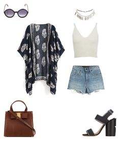 """""""Bohemian Meets Hipster: Kimono"""" by ila-rose ❤ liked on Polyvore featuring Alexander Wang, Givenchy, Fendi, Wet Seal and kimonos"""