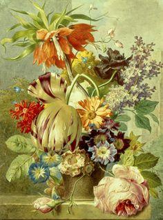 Still Life of Flowers by Jan Van Os