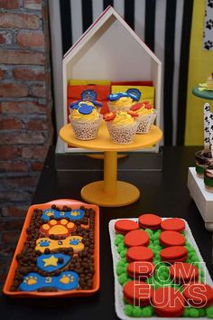 Awesome treats at a Paw Patrol birthday party! See more party ideas at CatchMyParty.com!