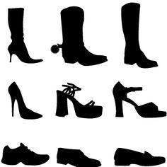 Siluetas de zapatos