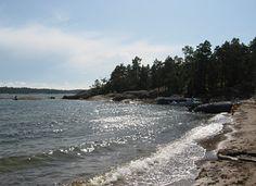 The beach of Diksand (Espoo, Finland).