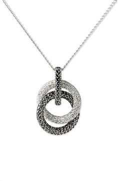 Judith Jack Double Circle Pendant Necklace available at Nordstrom