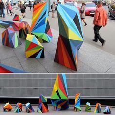 Sretenka Sculptures by Matt W. Moore #abstract #sculpture #moscow #handpainted #installation #fineart #industrialdesign #creative #love #instalove #instagood #instalike #instalove #instamood #like4like #geometry #geometric #colorful #colorinspo #streetstyle #streetart