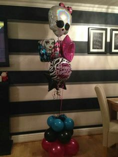 #mobster high #theme #balloons #bellissimoballoons