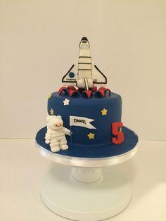 Space shuttle cake.