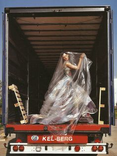 "Stella Tennant in ""Couture Delivery,"" photographed by Tim Walker for Vogue Italia"