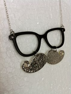 Reversible #Mustache and #Glasses Necklace by mustardampersand on Etsy