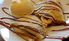 Receitas - Crepes com gelado e chocolate quente - Petiscos.com