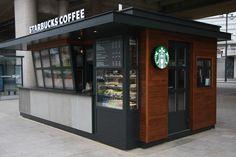 How much this kiosk Wayne manufacturing site Cafe Shop Design, Kiosk Design, Cafe Interior Design, Signage Design, Design Design, Graphic Design, Container Coffee Shop, Container Shop, Shipping Container Cafe