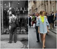 Love the idea of mixing black and white heritage photos with the cool, modern alternatives.