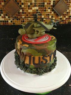 Joyce Gourmet: Army Helicopter Birthday Cake