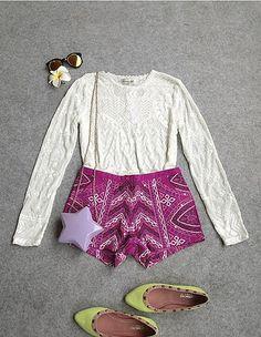 Zhao咪咪的小铺子,2014秋季新款 泰式清新蕾丝亮片刺绣套装