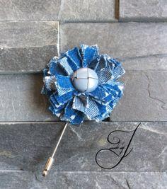 Jeans Lapel flower/pin