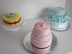 American Girl Doll Wedding Cakes and a Sponge Cake-- made with plastic bottle caps