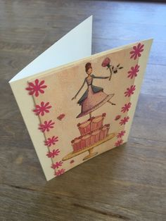Card -Girl and Cake  £5.20