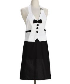 While superheroes have capes, super chefs have stylish aprons. Don this crisp piece to protect clothes while readying roasts and cookies. Looking lovely while saving dinner must be a superpower. W x cottonMachine washImported Black Tie, Black And White, Aprons For Men, Sewing Aprons, Domestic Goddess, Diy Clothing, Dress Codes, Fashion Forward, My Style