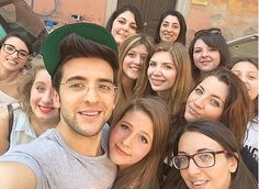 Piero Barone and fans.