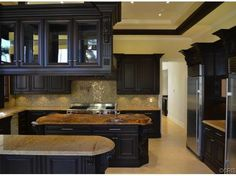 all black cabinets