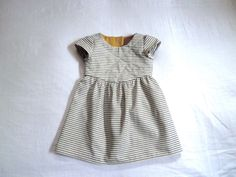 Organic Cotton and Hemp Striped Dress for Children and Babies.