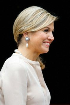 Queen Maxima of the Netherlands attends a meeting with modern artists at the Royal Palace in Amsterdam, The Netherlands, 4 June 2014.