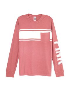 Long Sleeve Campus Pocket Tee - PINK - Victoria's Secret | PINK ...