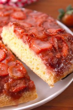 strawberry-upside-down-cake