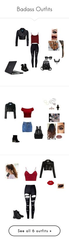 """Badass Outfits"" by rearca on Polyvore featuring ASAP, GABALNARA, Boohoo, Gucci, Speck, Off-White, BaubleBar, CLUSE, Yves Saint Laurent and WithChic"