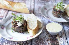 Qooking.ch | Tartare de boeuf Ceviche, Baked Potato, Tacos, Potatoes, Baking, Ethnic Recipes, Food, Balsamic Vinegar, Recipe