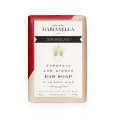 JABONERIA MARIANELLA LIMITED EDITION- GARDENIA & GINGER BAR SOAP FOR TIMO WEILAND