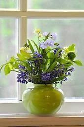 Apple shaped light green vase by Middle Kingdom Porcelain