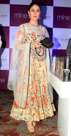 Actress Kareena Kapoor Khan was spotted launching a jewellery brand in Mumbai on Monday.  Kareena recently got back from London after celebrating her first anniversary with husband Saif Ali Khan. #celebgenie (www.celebgenie.com)