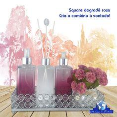 #flowers #cristal #square #Aromatizador #rosa @degradê Acesse http://www.mundodasessencias.com/loja2/index.php/