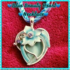 ✔HPBlue Beauty of Love Heart Necklace How much do you love a baby blue color? OMG I love this shade of blue its so soft and looks amazing against skin. This 16 inch necklace has ribbon and a beauty baby blue heart as pendent makes for a great statement piece to any outfit ! See picture 4 for size comparison of pendent ! Boutique Accessories