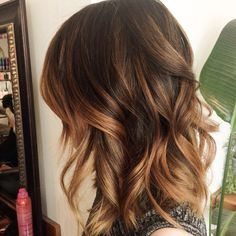 Caramel color is a very beautiful and safe color on Asian. Especially if this is your first time coloring or getting the balayage! // salon de elephant