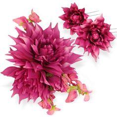 髪飾り・ヘッドドレス/シャンティダリアのヘッドドレス(ピンク) - ウェディングヘッドドレス&花髪飾りairaka
