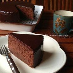 至福のザッハトルテ♡〜極上レシピ〜 Easy Cake Recipes, Sweets Recipes, Brownie Recipes, Baking Recipes, Cute Desserts, Chocolate Desserts, Delicious Desserts, Yummy Food, Sweets Cake