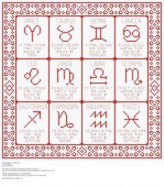 Zodiac Sampler - filet crochet for curtain???