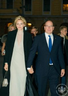 MYROYALS &HOLLYWOOD FASHİON: Prince Albert and Princess Charlene at the Bolshoi Theater in Moscow, October 4, 2013