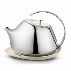 Helena Rohner Teapot in Stainless Steel and Porcelain