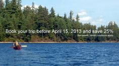 Backcountry canoe trip sale - 25% off - click the image to see offer details, or visit http://www.treksinthewild.com