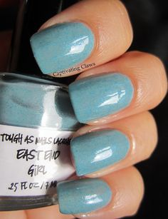 Captivating Claws: Tough As Nails Lacquer.. The Dregs Collection.. This is East End Girl