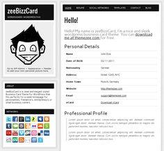 Build an Online Resume in Minutes with the Free zeeBizzCard WordPress Theme
