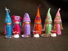 Nothing like an order to set the assembly line productivity! Here are the gnomes for the garden gnomes playset. a great place to hang. An...